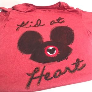 Disney Store Mickey Mouse T-Shirt Kid At Heart